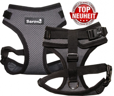 Beroni Softgeschirr Upgrade Easy Walking Katzengeschirr 2.0 grau