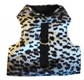 Cat Walking Jacket schwarz weiß Schneeleopard Katzenweste