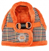Puppia Auden Hunde Step-In-Geschirr Weste Winter orange