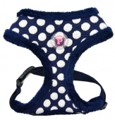 Softbrustgeschirr blau Dotty Winter warm