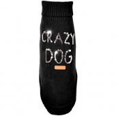 Warmer Strick Hundepullover Pailletten gold CRAZY DOG