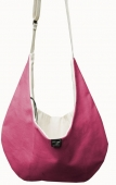 Dog Pouch Bag Luxury Canvas fuchsia für Minihunde