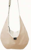 Dog Pouch Bag Luxury Canvas beige für Minihunde