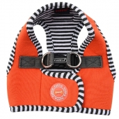 Puppia Naunet Harness B orange Streifen Step In Geschirr